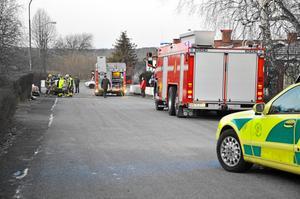 Ett garage på Nils Ericssongatan brann på fredagseftermiddagen.