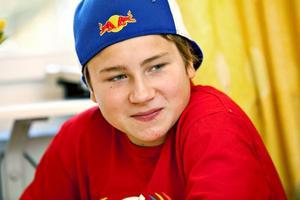 SJUA. Gustav Ahlin i 7A har nyss börjat på Stigslundsskolan och trivs bra.