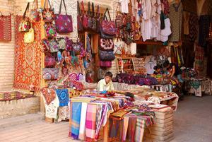 En av marknaderna i Buchara.