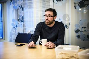 Martin Gidlund, lokalansvarig  på Nordek hoppas att Oskargallerian snart har både café- och restaurangverksamhet.  Foto: Leif Wikberg