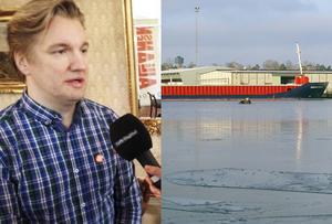 Jan Myléus, hamnen i Norrsundet. Bilderna är tagna vid andra tillfällen.