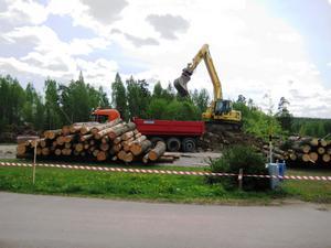 I maj började Lidl bygga den nya butiken vid Hofors östra in- och utfart.
