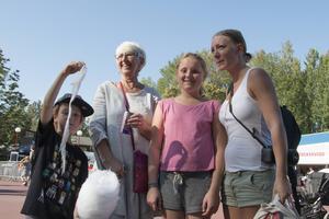 Christina Johansson har inte varit på Furuviksparken sedan de egna barnen var små, på lördagen återvände hon med barnbarnen Gustav och Tuva Jungmarker och sonens sambo Sanna Sjögren.