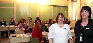 Anna Söderlund och Elisabeth Hemlin i Lärarförbundets lokalavdelning i Gävle träffade ett 30-tal medlemmar tidigare i veckan. Alla var överens om att opinionstrycket för mindre barngrupper måste bli större.