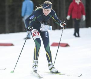 Josefine Engström blev Alfta-Ösas fjärde bästa åkare med sin femteplats i comebacken.