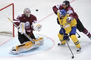 Sverige besegrade Lettland efter förlängning. Fredrik Sandberg/TT