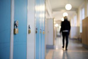 Skolkorridor. Arkivbild.