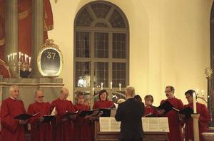 Ilsbo kyrkokör under ledning av Charles Liljedahl.