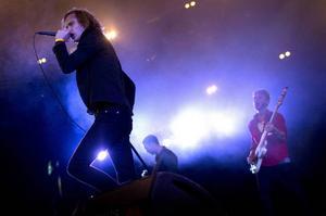 Refused på Roskildefestivalen, under återföreningsturnén 2012.