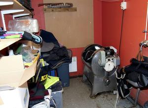 Så här ser tvättstugan ut i dag vid ridanläggningen i Räfsnäs.