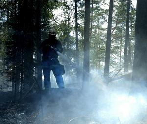 Kontroll. Räddningstjänsten i Hedemora och Avesta fick snabbt kontroll på branden.