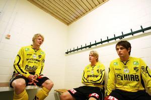 Joel Stillmark, Jesper Karlsson och Pelle Lööf, ABK.