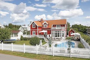 Villan i Gävle på Ledungsvägen 16 låg fanns med i toppen bland Hemnets mest klickade villor under förra månaden.