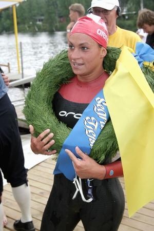 Vinner igen? Mia Brodén har tidigare vunnit Vansbro tjejsim sex gånger och ska på lördag försöka ta sin sjunde triumf. Foto:AndreasHansson