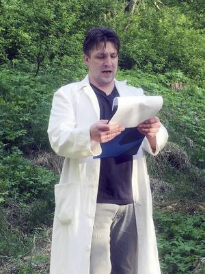 Martin Pareto som knasig vetenskapsman när Gävlepubliken fick ett smakprov ur