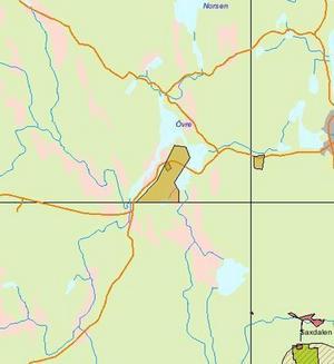 Gamla gruvor. Hela Burängsbergsfältet som är två kilometer långt har mutats in.