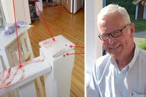 Efter mordet på Göran Möller och mordförsöket på hans hustru säkrade polisen mängder med blodspår i sommarstugan. Men i trappan hittade de inte bara blod utan även ett skoavtryck.