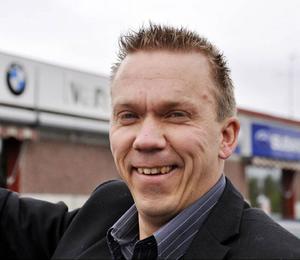 Niclas Ericsson på Ivars Bil är glad över att konjunkturen har vänt.