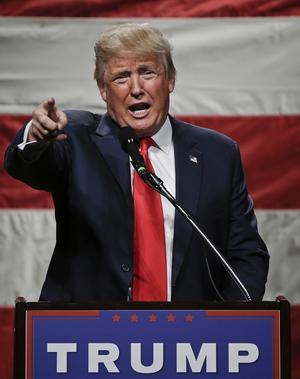 Donald Trump på kampanjmöte