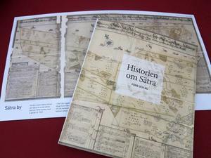 Sätraboken inklusive särtryck och karta.