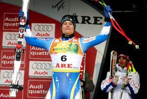 Hans Olsson var stolt över sin prestation i går.Foto: Denny Calvo