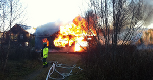 En villabrand i Fiskvik, Bergsjö