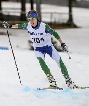 Johanna Albertsson är en av länets främsta ungdomsåkare. Det visade hon på nytt i den tekniska sprintbanan på VM-stadion.
