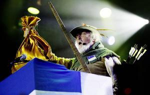 2007 körde Ewert Ljusberg på Robin Hood-tema.