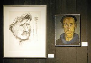 Ragnar Johansson och Bengt Ellis utförde dessa porträtt av varandra. Ellis avbildad till vänster och Johansson till höger.