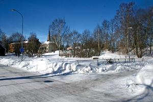 Kvarteret Berg som det ser ut i dag sett från Allégatan vid Puttlabäcken.BILD: STEFAN IGNELL