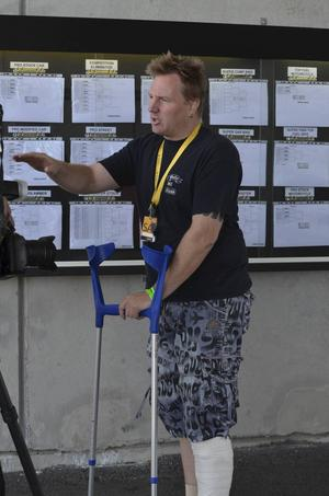 Tommie Johansson, Gävle, hade otur i kvalet på lördag.