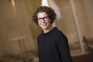 Maud Hallmans är nöjd med Googles köp av mark i Horndal.