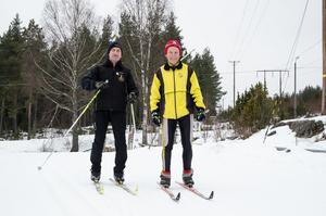 Sven-Erik Karlsson och Gunnar Olsson från Borlänge har 46 Vasalopp och flera klassiker bakom sig.