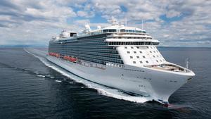 Kryssningsfartyget Regal Princess gör sitt premiärbesök l Nynäshamn den 1 maj. Foto: Princess Cruises