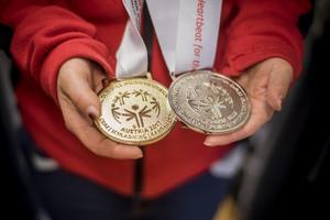 Guld och silver i Special Olympics.