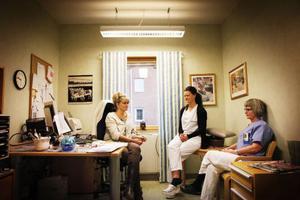 Anna Åkerman, Monica Olsson och Elisabeth Evjen är distriktssköterskor på Brunflo hälsocentral.