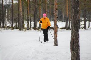 Vanja Isaksson tyckte om att åka skidor på vidderna i nationalparken.