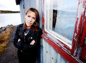 Författaren Åsa Larsson fotograferad i Kiruna. Foto: Kenneth Paulsson / SCANPIX