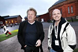 Gamle Gävleskådespelaren Pär Andersson, till vänster, kände mycket nostalgi över återbesöket. Här är han i sällskap med Anders Öhnström från Sundsvall.