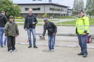 Dee Khawke, Ingemar Züchner, Achmed Louquod och Sune Åkerlund i full fart.