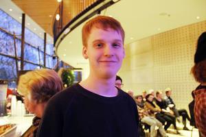 Emil Nilsson lyssnar på Anfinsen Kvartetten.
