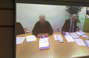 Mannen deltog i rättegången via videolänk-