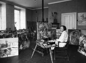 Sigrid Hjertén, 1885-1948, målare, 1911-37 gift med Isaac Grünewald.