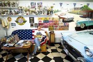 Här trivs Lars-Erik Nordin bäst – i sitt garage.