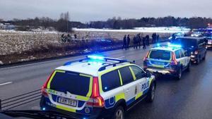 44-åringen voltade av vägen och kunde gripas av polisen.