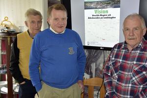 Stig Lindblad, Rune Hellström och Sören Byström i Mo Samhällsförening.