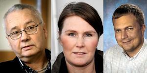 Robert Mörk, Jenny Steen och Jonas Karlsson.