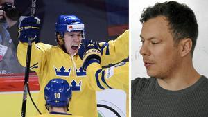 Njurundasonen Erik Gustafsson, med ett förflutet som ungdomsspelare i Timrå IK, vann VM-guld med Tre Kronor på hemmaplan 2013.