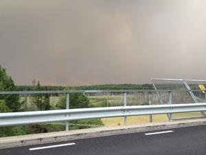 Bilden tagen från Gammelby/Virsbo.