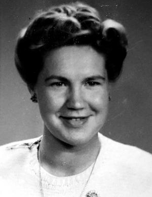 18 år och nybliven sköterska på Sidsjöns sjukhus. Birgit Larsson jobbade på sjukhuset i 40 år.